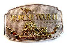 World War II Remembered Belt Buckle