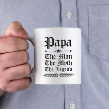 Vintage Gothic Papa The Man The Myth The Legend Coffee Mug Cup For Dad