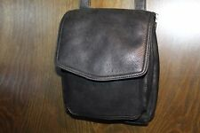 VINTAGE FOSSIL BLACK LEATHER CROSS-BODY STYLE BAG