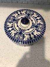 "Pottery Barn Style arab investors petra khazana blue pottery, Big 10""Casserole."