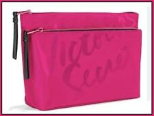 VICTORIA'S SECRET DOUBLE ZIP MAKEUP BEAUTY BAG HOT PINK TRAVEL CASE NEW WITH TAG