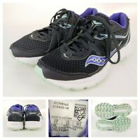 Saucony Cohesion 11 Womens Size 6.5 Running Shoes Black Purple Blue Athletic