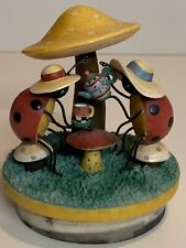 Yankee Candle Our America Candle Jar Topper Ladybug Tea Party Debbie Mumm RARE