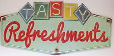 Tasty Refreshments Embossed Die Cut Metal Sign USA Seller Movies Candy Soda Popc