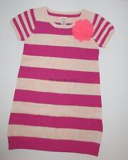 Gymboree Fairy Tale Forest Pink Striped Knit Rose Sweater Dress Girls 8 NEW NWT