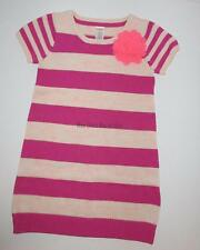 Gymboree Fairy Tale Forest Pink Striped Knit Rose Sweater Dress Girls 7 NEW NWT