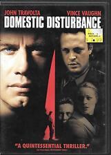 Paramount, Domestic Disturbance 2001, John Travolta, Vince Vaughn,  USED DVD