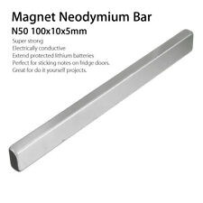 N50 Long Cuboid Block Bar Super Strong Rare Earth Neodymium Magnet 100x10x5mm