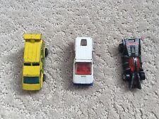 Lot of Three vintage 1975-78 Spiderman and Hulk Hot Wheels