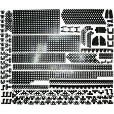 Lego Technic Black Studless Beams Liftarms Panels Thins Bricks - 429 Parts - NEW