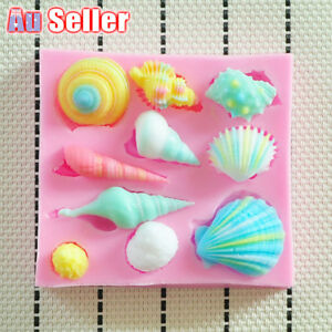 3D Seashell Cookie Tray Baking Shell Fondant craft Cake Silicone Chocolate Mould