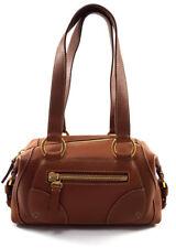 Borbonese Brown Leather Shoulder Women Handbag
