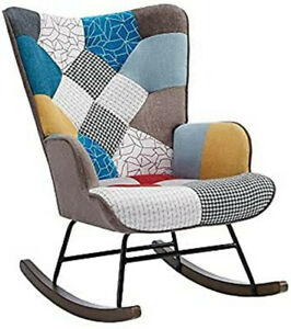 Tribesigns Rocking Chair, Colourful Living Room Accent Rocking Armchair US