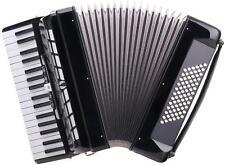 B-WARE AKKORDEON 72 BÄSSE 34 DISKANT PIANOAKKORDEON TASTENAKKORDEON BLACK RIEMEN