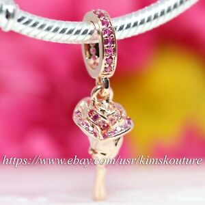 Authentic Pandora 14k Rose Gold-Plated Rose Flower 789312C01 Charm