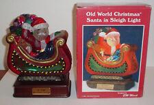 1994 Merck Old World Christmas Santa in Sleigh Light - 10 Yr Anniversary Edition