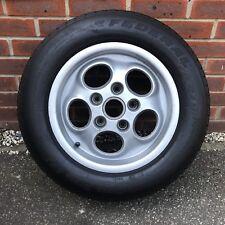 porsche teledial 944 Turbo alloy wheel 5 x 130 one piece 15 And  215 60 15 Tyre