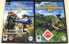 2 PC SPIELE SAMMLUNG - MARINE SHARPSHOOTER 3 & 4 IV - FSK 18 ego shooter