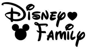 Disney Family Vinyl Window car Decal/Sticker