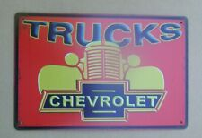 Chevrolet Trucks Metal Sign Chevy Shop Decor
