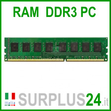 Memoria RAM 4GB DDR3 (1x4GB) PC3-10600U 1333Mhz DDR3 240 pin x DESKTOP No Ecc