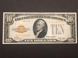 1928 $10 (Gold Certificate) Crisp High Grade!!