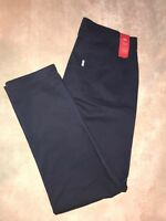 NWT Women Levis Essential Chino Pants Tapered Leg Navy Blue Sz 10 X 28 Stretch