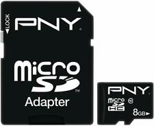 PNY 8 GB High Speed MicroSDHC Memory Card Professional Waterproof, Shock Proof