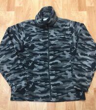 COLUMBIA Youth 14/16 Long Sleeve Full Zip Fleece Black/Gray Camo Jacket