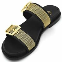 ASH WOMAN FLAT SANDALS MULES SLIDES SHOES LEATHER CODE SS18-M-124544-001 MONA