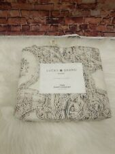 Lucky Brand Leila Paisley Twin Cotton Reversible Duvet Cover Set Beige