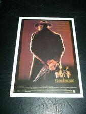 Unforgiven, film card [Clint Eastwood, Gene Hackman, Morgan Freeman]
