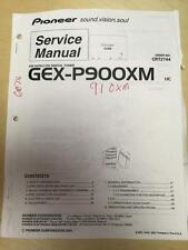 Pioneer Service Manual for the GEX-P900XM GEX-P910M Satellite Digital Tuner