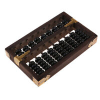 Holz Chinesische Abakus mit 7 Säulen Zählrahmen Rechenhilfe  Lernspielzeug
