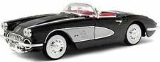 Chevrolet Corvette 1958 negro Motormax 1:18
