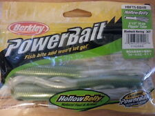 "Berkley Powerbait 5 1/2"" hollowbelly flippin tube blueback herring color"