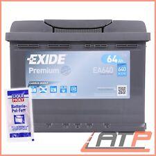 AUTOBATTERIE EXIDE EA640 PREMIUM CARBON BOOST 64-AH 640-A+10g BATTERIEPOL-FETT