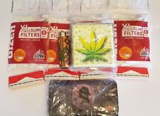 Smokers Starter Kit With 4 Filters 4 Papers 1 clipper 1 tobacco Pauch 1 Case New