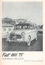 PUBBLICITA' 1954 FIAT 1100 TV TURISMO VELOCE  MODA COMODITA' VINTAGE