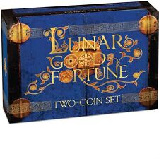 2015 LUNAR GOOD FORTUNE WEALTH & WISDOM YEAR OF THE GOAT Silver Proof Coin Set
