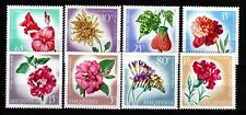 ALBANIA Sc 1017-24 NH ISSUE OF 1967 - FLOWERS