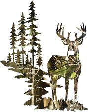 Camo Deer Birthday Party Edible Cake Topper 1/4 FROSTING sheet