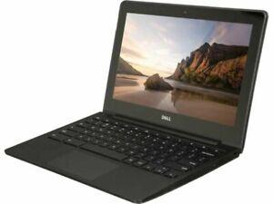 """Dell CB1C13 11.6"""" 4GB RAM 16GB SSD Chromebook Webcam - Black Refurbished AC Adap"""
