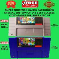 Super Nintendo Best Video Game 143 In 1 SNES NTSC Multi Cart Cartridge 16 Bit US