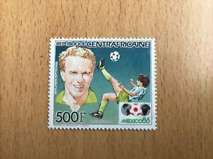 "timbre neuf République Centrafricaine 'Mexico 86"" Karl Heinz Rummenigge"