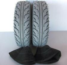 2 Mobility Scooter Tyres & 2 Tubes 4.10/3.50-6 Grey 4 ply tires & tubes FREEPOST