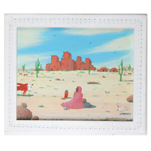 Untitled (Southwest Desert Scene) By Kenneth Stancin Acrylic/Oil Painting