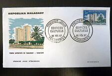 MADAGASCAR  431   PREMIER JOUR FDC     EDIFICE RELIGIEUX  TEMPLE     3F     1967