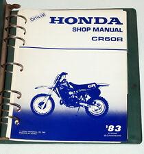 1983 HONDA CR60R CR60 CR 60R Motorcycle Dealer Shop Service Manual in Binder 83