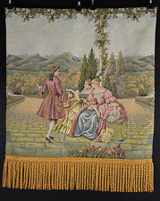 Baroque Style Wall Hanging Tapestry Classical Courting Scene Renaissance Decor &